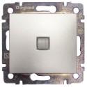 Legrand Valena Выключатель 1 клав. с подсветкой алюминий