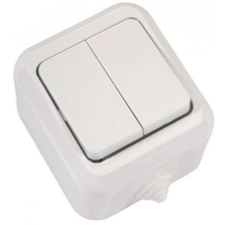 Makel полугерметичный IP44 выключатель 1кл белый