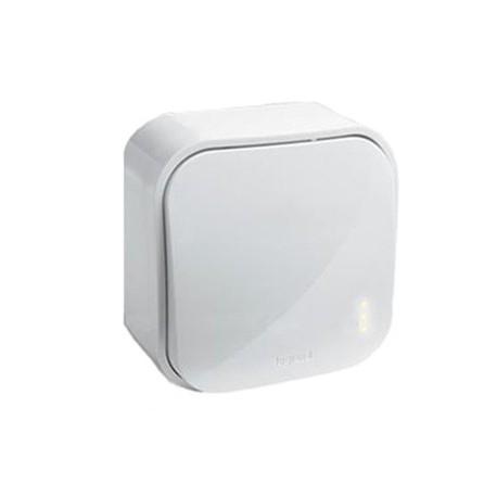 Legrand Quteo Выключатель 1-клав 10А проходной  IP20 Белый