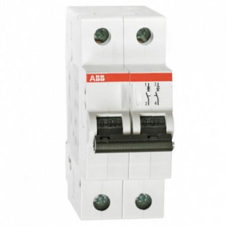 Автоматический выключатель ABB 2х пол SH 202 C 6А