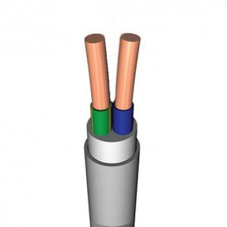 Кабель NYM (НУМ) 2x 2.5 кв.мм Конкорд